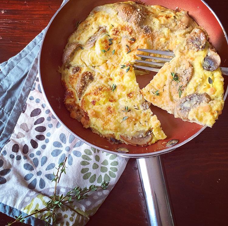Mushroom Onion Frittata