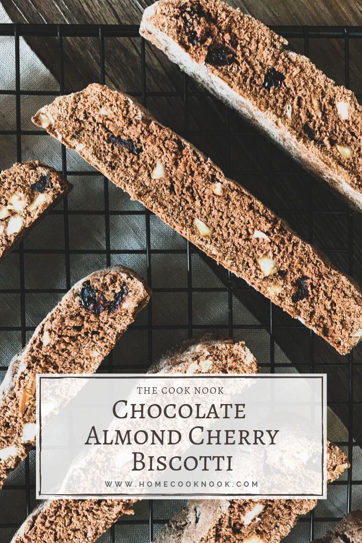 Chocolate Almond Cherry Biscotti