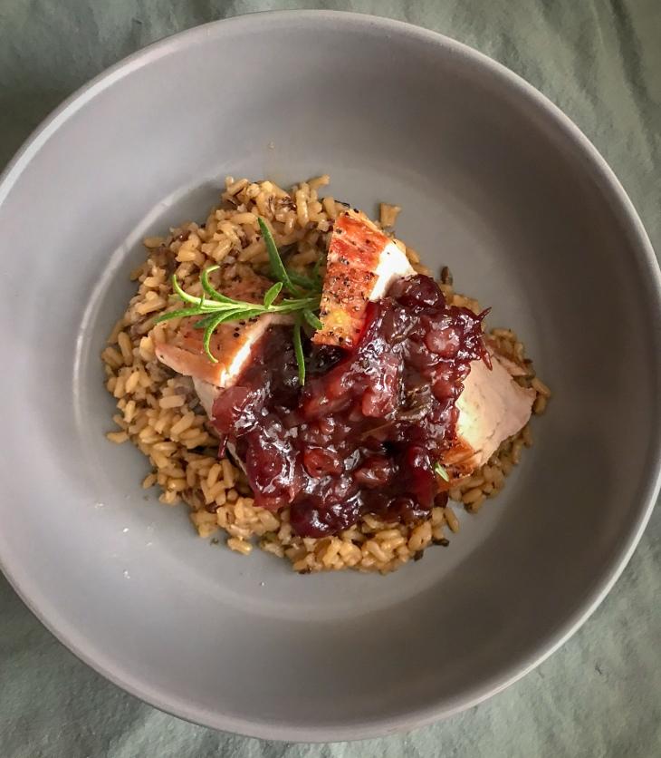 Pork Tenderloin & Balsamic Cranberry Sauce