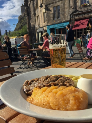 Shepard's Pie on the Royal Mile in Edinburgh Scotland, haggas