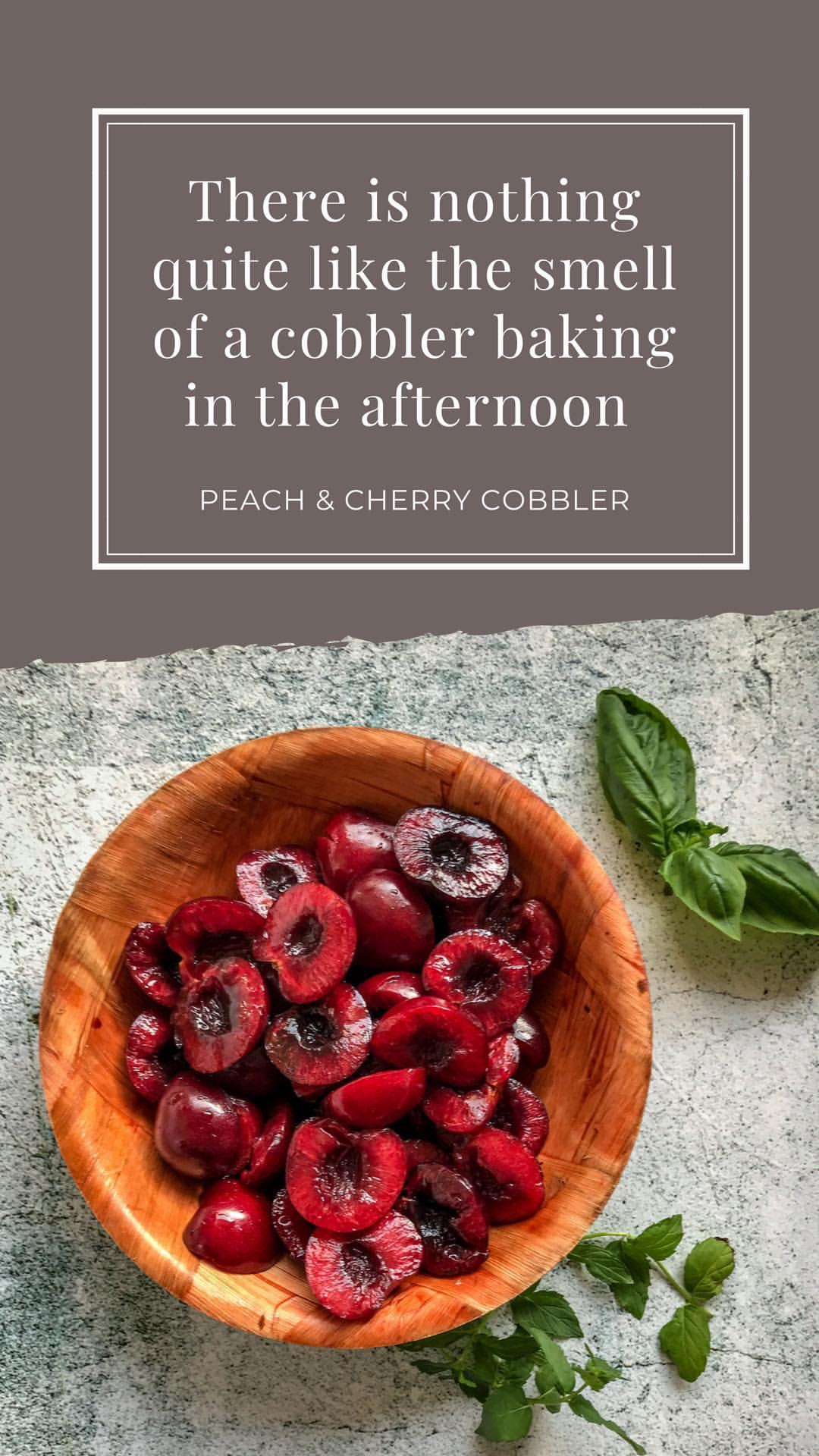 Cobbler peach cherry