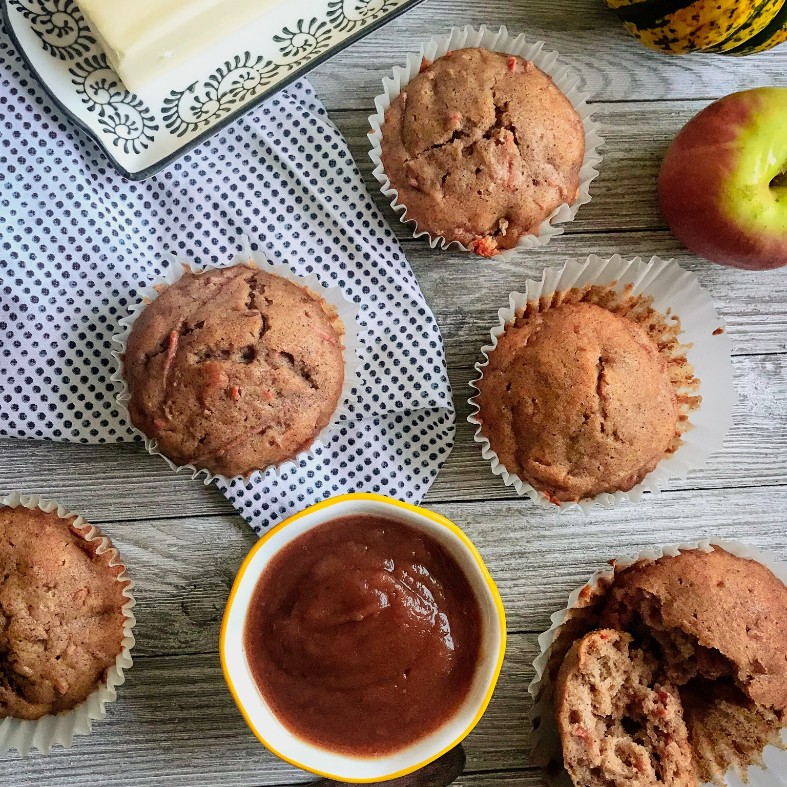 Apple Butter and Carrot Muffins