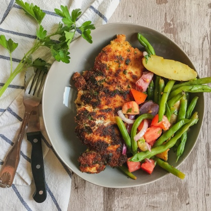 Lemon Herb & Parmesan Breaded Chicken