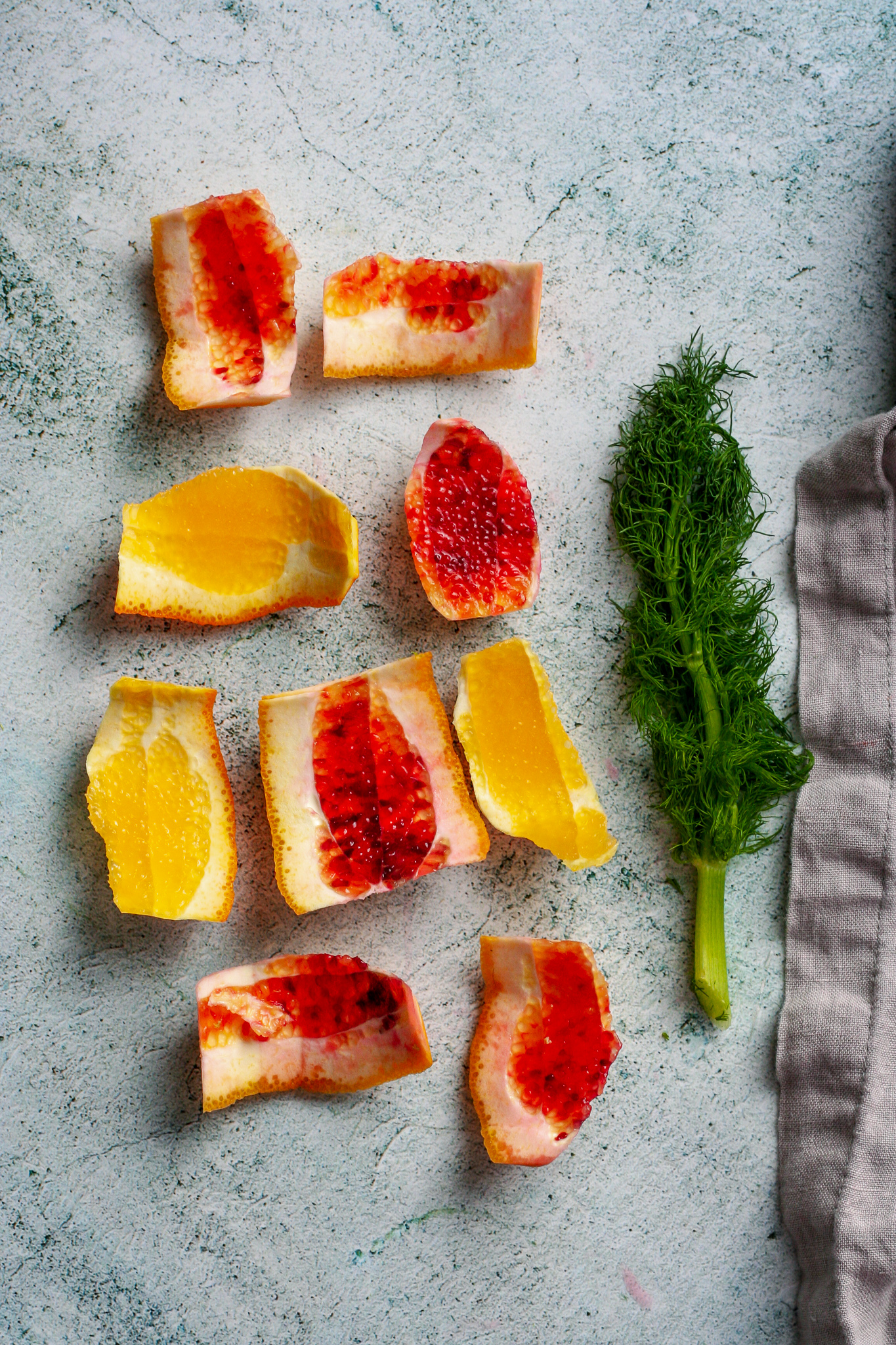 Citrus Fennel Burrata Salad