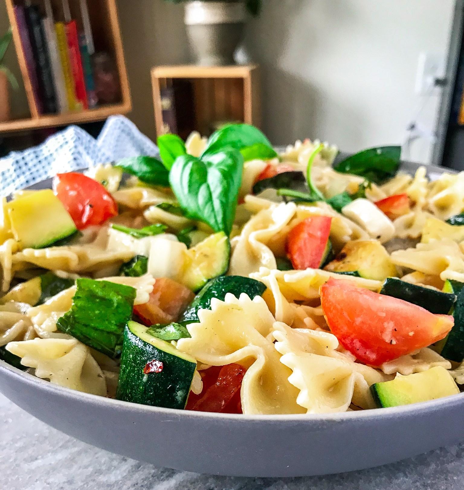 Caprese Primavera Pasta Salad