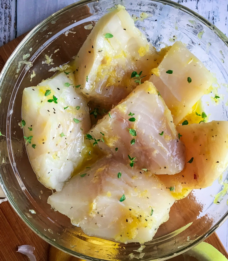 Baked Lemon Garlic Cod with Tomatoes and Leeks