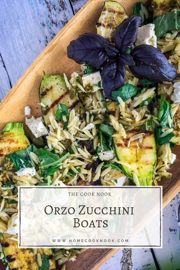 Orzo Zucchini Boats