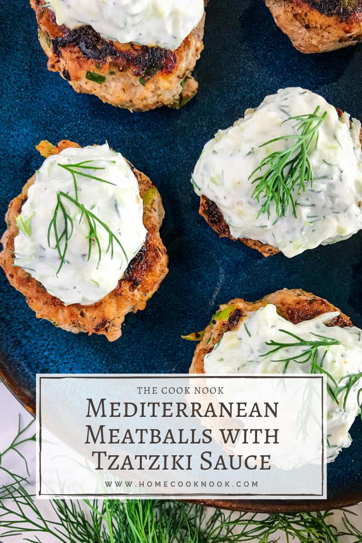 Mediterranean Meatballs with Tzatziki Sauce