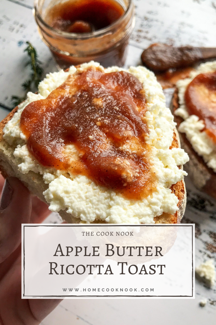 Apple Butter Ricotta Toast