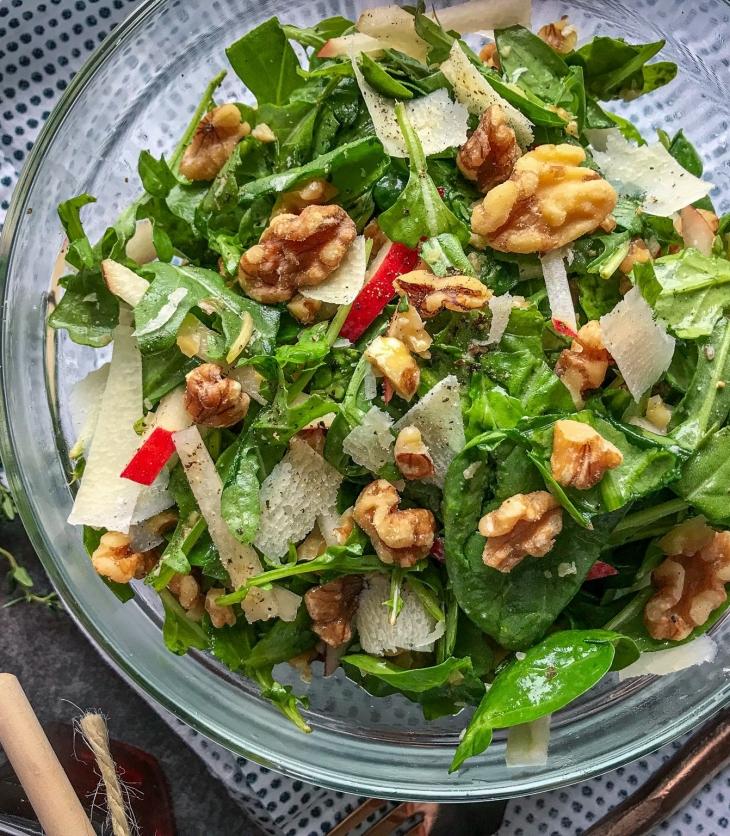 Red Pear Salad & Spiced Cider Vinaigrette
