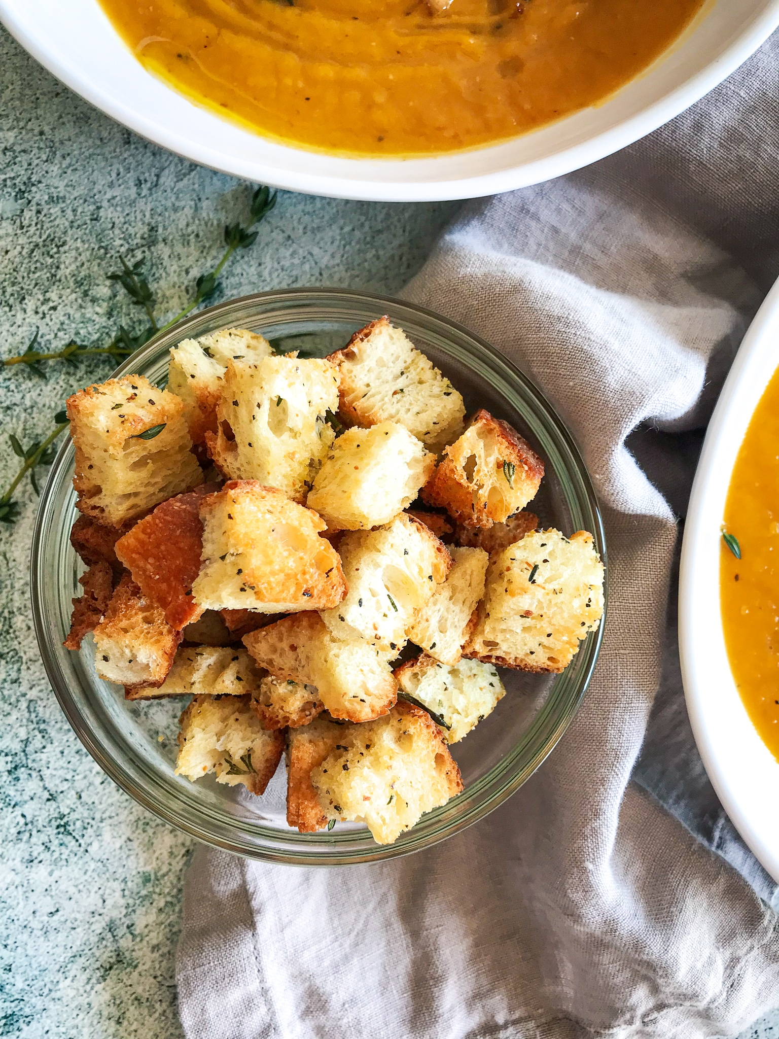 Butternut Squash Soup with Rosemary Croutons603
