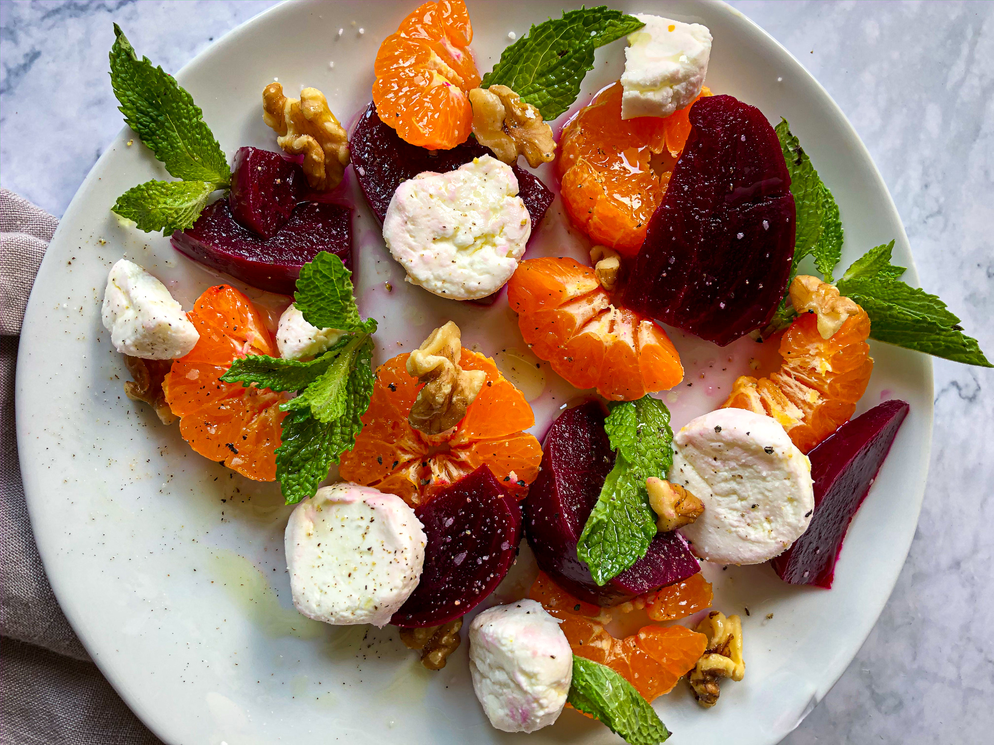 Pickled Beet Goat Cheese Salad
