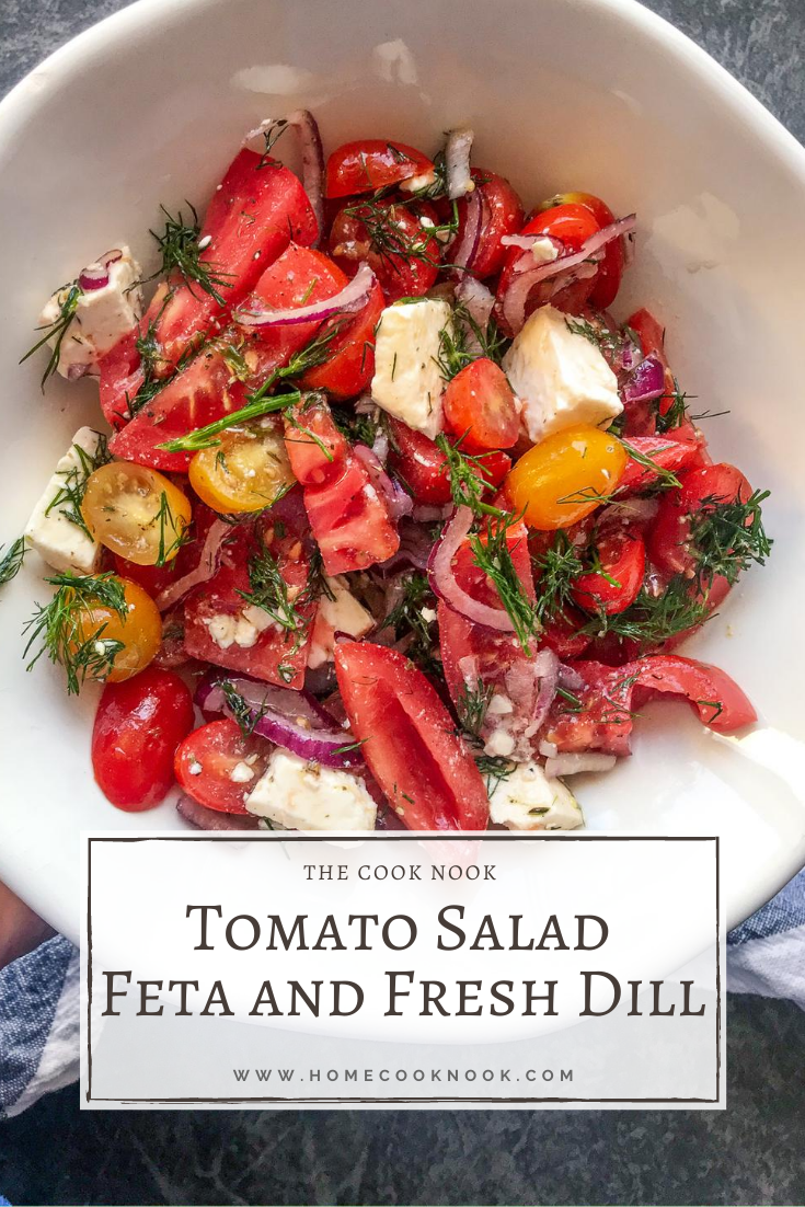 Tomato Salad with Feta and Fresh Dill