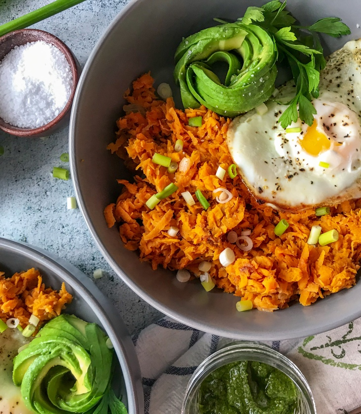 sweet potato hash breakfast bowl
