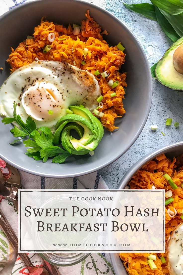 sweet potato hash breakfast bowl